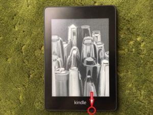Kindlepaperwhiteの電源ボタンの位置