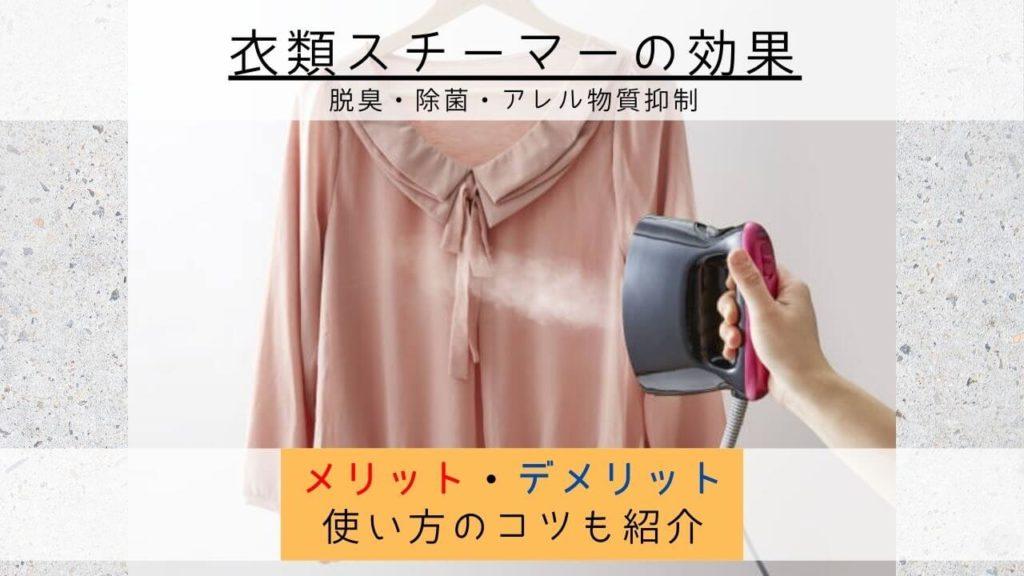 衣類スチーマーの効果とは
