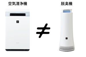 空気清浄機と除菌脱臭機の違い
